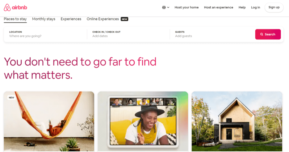 Airbnb — online travel marketplace examples
