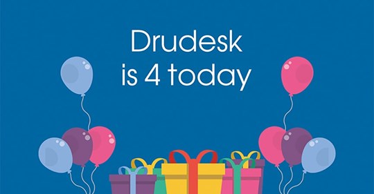 Drudesk website support agency turned 4 years old
