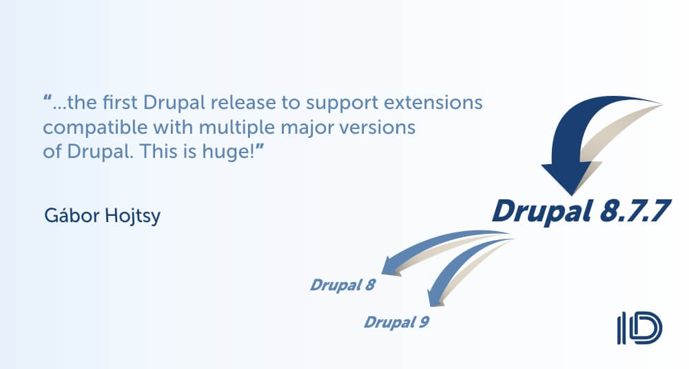 Gábor Hojtsy's  quote about Drupal 8.7.7