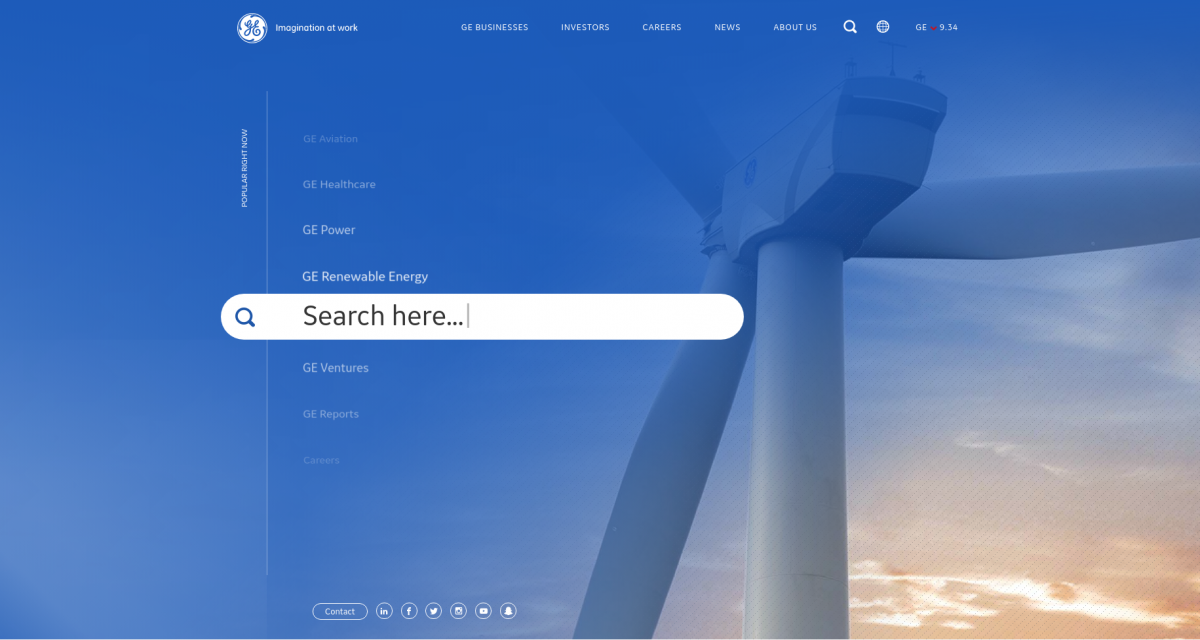 GE website built with Drupal