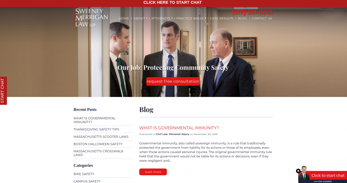 High-quality content for a law firm website