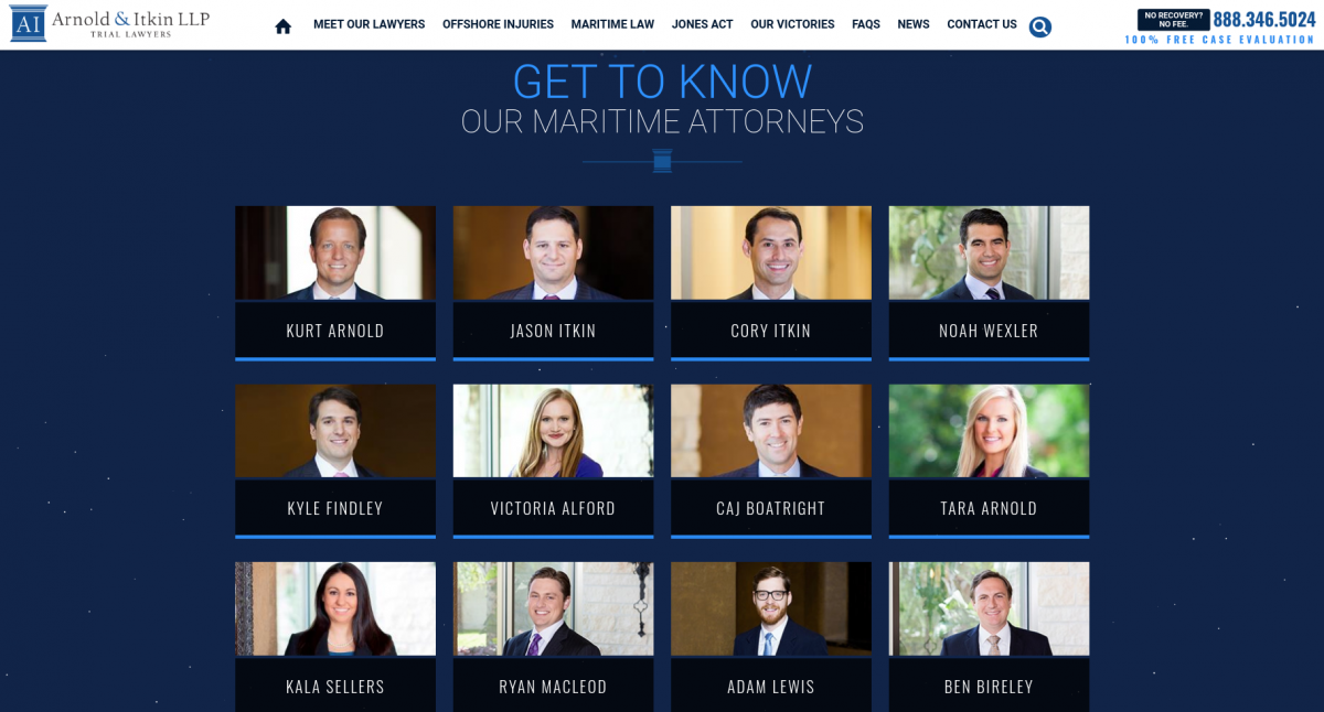 Introducing attorneys on a law firm website