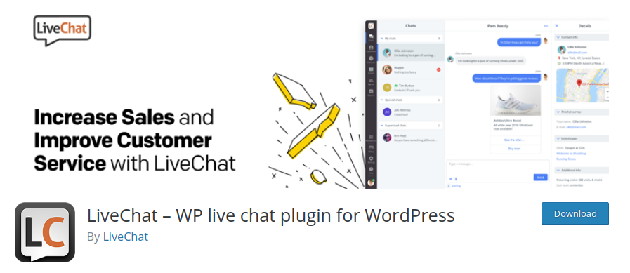 LiveChat WordPress lead generation plugin