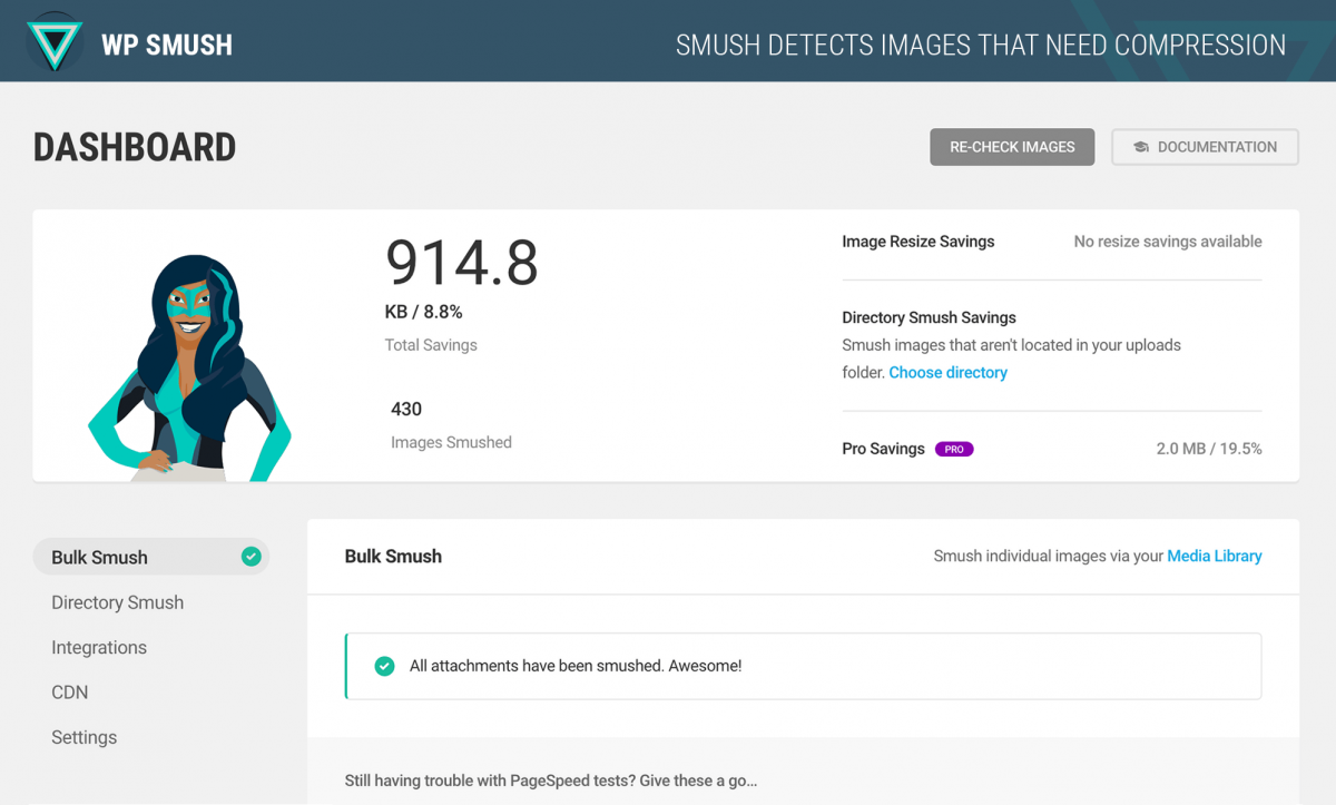 Smush — image optimization plugin for WordPress