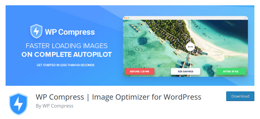 WPCompress — image optimization plugin for WordPress